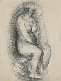 Figure - Origina Lithograph by Marino Marini - 1944