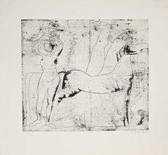 Fondale - Original Etching by Marino Marini - 1969