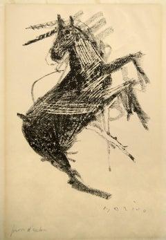 Horse II - Original Lithograph by Marino Marini - 1948