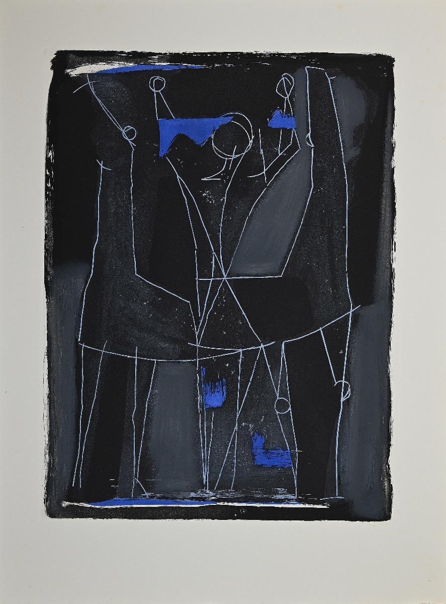 Hummingbird - Original Etching and Aquatint by Marino Marini - 1963