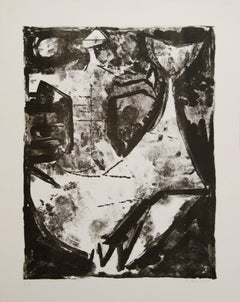 Idea of a Knight - Original b/w lithograph - 1965
