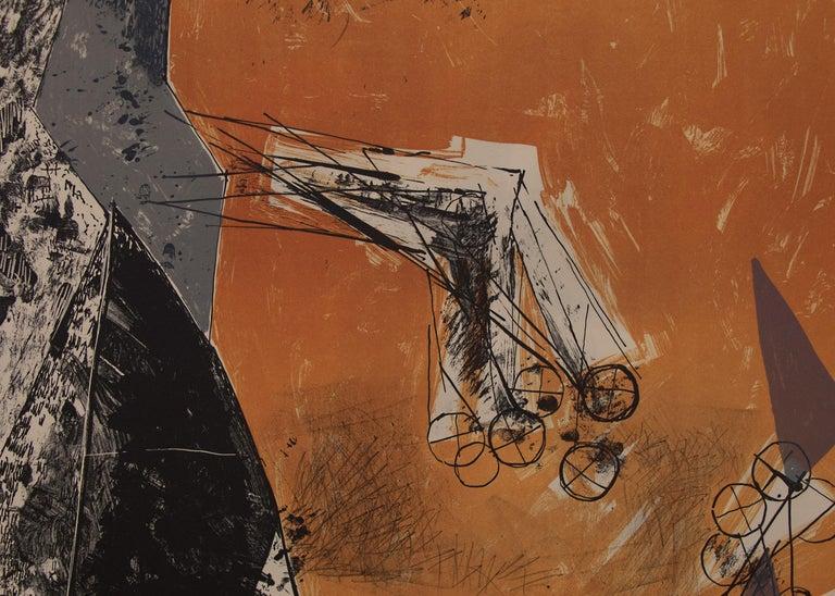 Marino Marini (1901-1980) original vintage abstract lithograph,