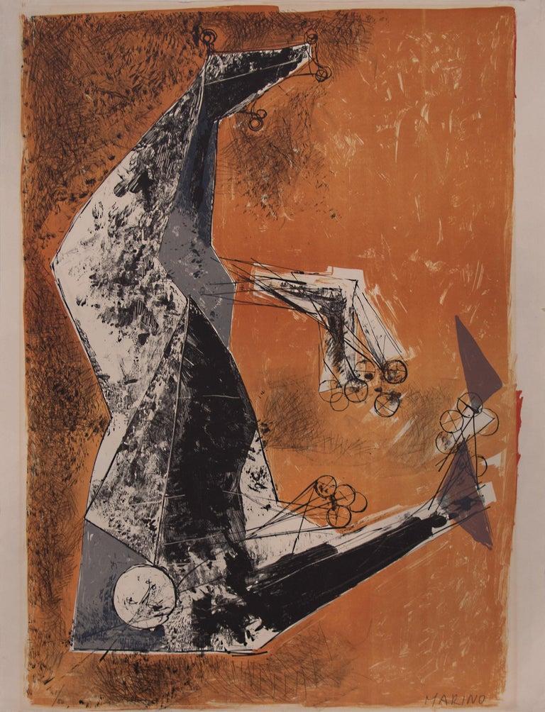 Marino Marini Abstract Print - Il Miracolo (The Miracle)