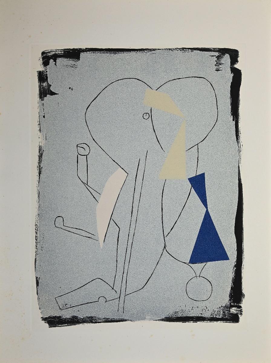 Juggler - Original Etching and Aquatint by Marino Marini - 1963