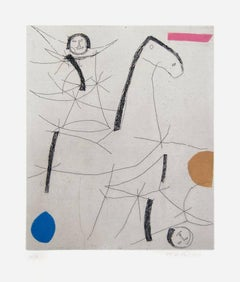 Jugglers - Original Etching by Marino Marini - 1971
