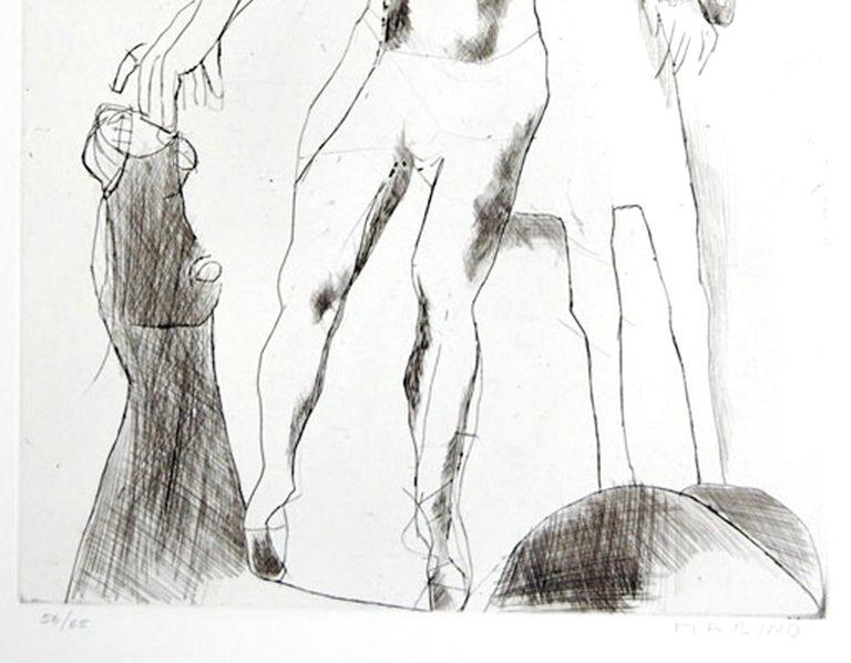 Jugglers V - Original Etching by Marino Marini - 1969 For Sale 1