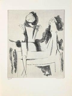 L'Idée du Chevalier - Original Etching by Marino Marini - 1958
