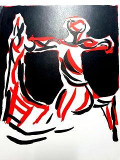 Marino Marini - Knight - Original Lithograph