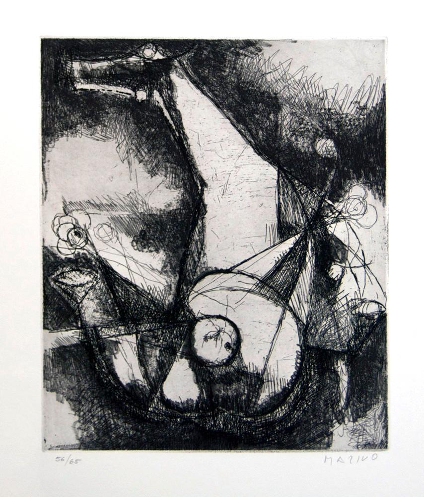Miracle - Original Etching by Marino Marini - 1960