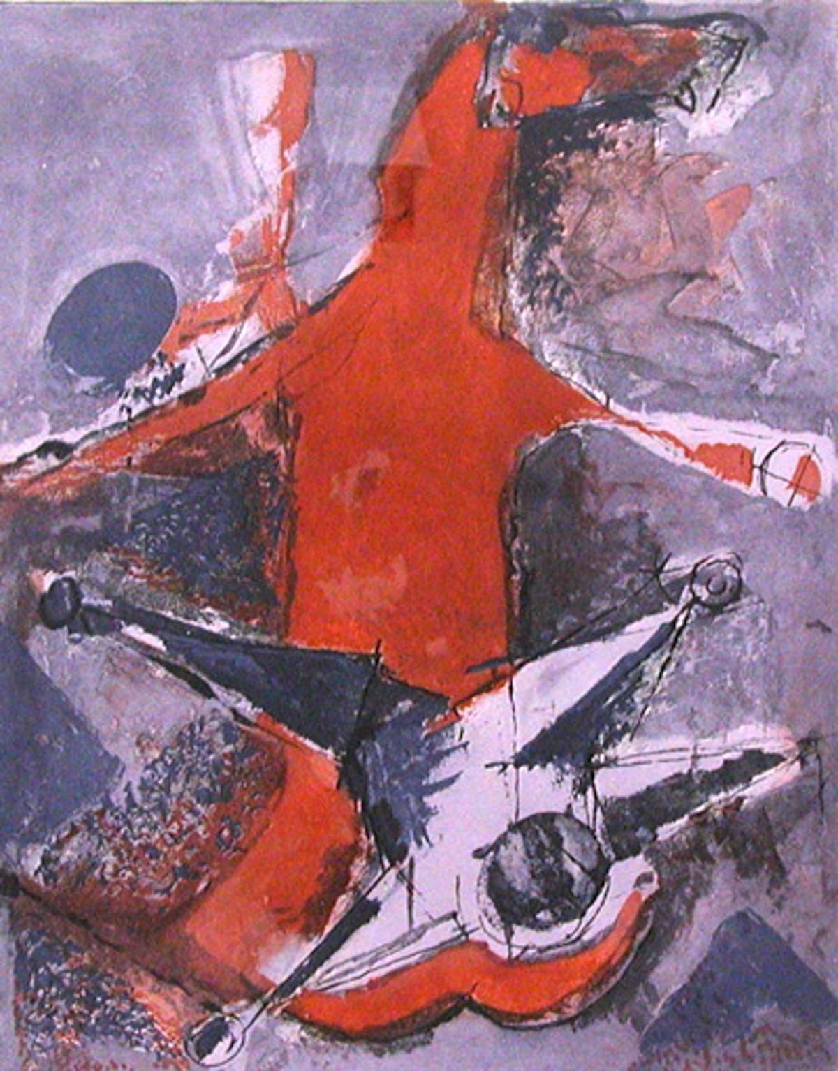 Miracolo (Miracle) - Original Etching and Aquatint by Marino Marini - 1978