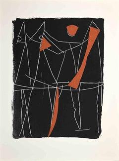 Round Dance - Original Screen Print by Marino Marini - 1963