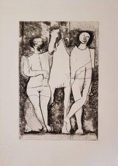 Scenario - Original Etching and Drypoint by Marino Marini - 1968