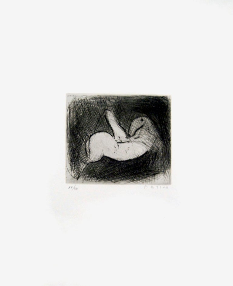Small Knight - Original Etching by Marino Marini - 1950 For Sale 1