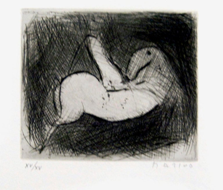 Small Knight - Original Etching by Marino Marini - 1950 For Sale 3