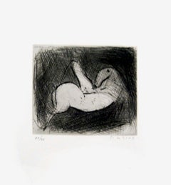 Small Knight - Original Etching by Marino Marini - 1950