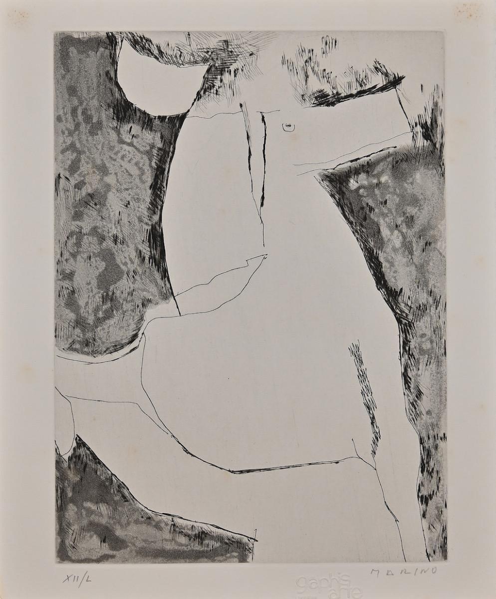 The Horse - Original Etching by Marino Marini - Mid-20th century