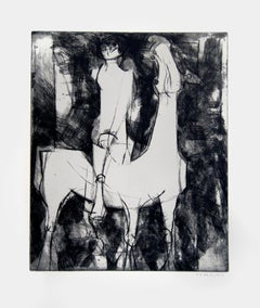 The Idea of the Knight - Original Etching by Marino Marini - 1971