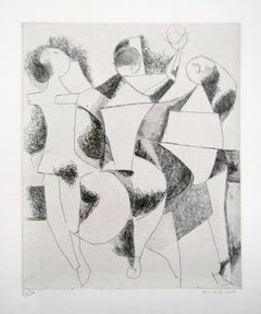Trio - Original Etching by Marino Marini - 1954