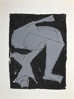 Warrior - Original Etching and Aquatint by Marino Marini - 1963