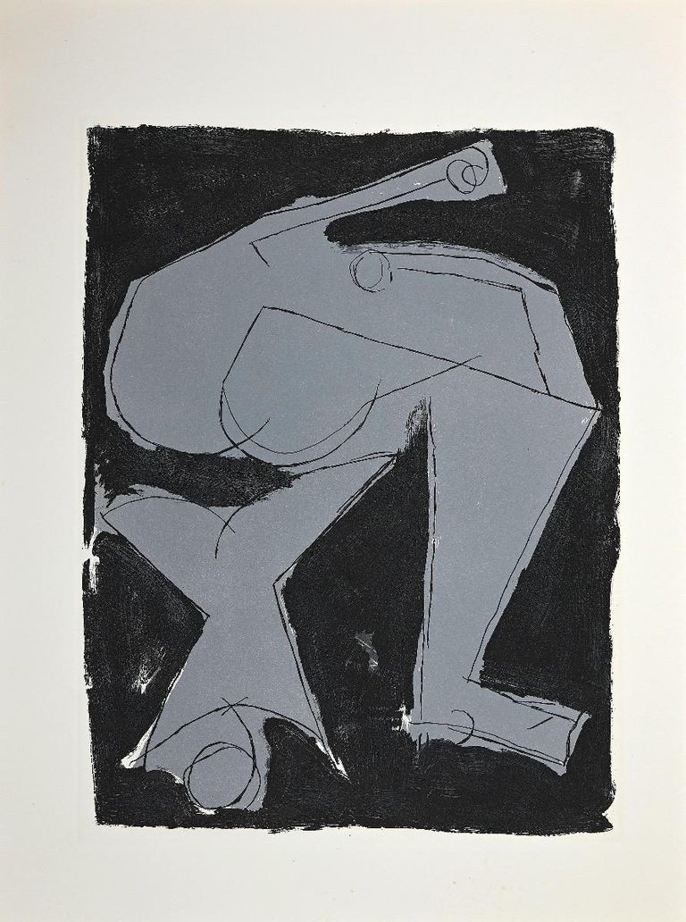 Warrior 1963 is an original contemporary artwork realized by Marino Marini.  Color etching and acquatint depicting a warrior.  Edition of 100 copies. On the back oh the artwork there is an inscription in china ink.  Unsigned and unnumbered, as
