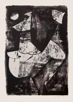 White Horse - Original Etching by Marino Marini - 1966