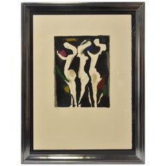 Marino Marini Signed Lithograph 18/50 1973 Le Sacre Du Printemps Three Graces