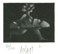 Breadwinner - Original Etching on Paper by Mario Avati - 1970s