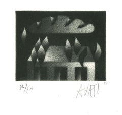 Bready Cloud - Original Etching on Paper by Mario Avati - 1960s