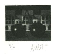 Cherry - Original Etching on Paper by Mario Avati - 1960s