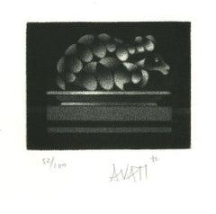 Hedgehog - Original Etching on Paper by Mario Avati - 1960s