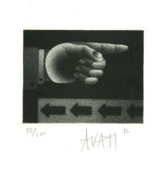 Indicating - Original Etching on Paper by Mario Avati - 1960s