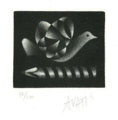 Pigeon - Original Etching on Paper by Mario Avati - 20th Century