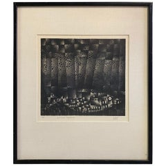 "Mario Avati Signed Limited Edition French Mezzotint Print ""Le Poissan Voyagevo"""