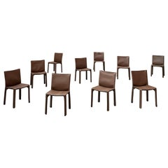 "Mario Bellini 412 ""CAB"" Dining Chairs for Cassina, 1977, Set of 10"