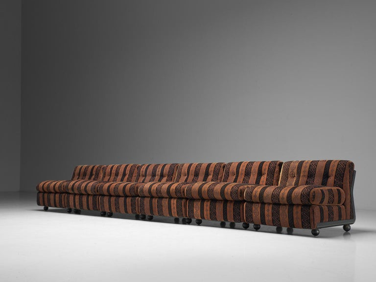 Mario Bellini 'Amanta' Modular Sofa in Original Fabric, 1966 In Good Condition For Sale In Waalwijk, NL