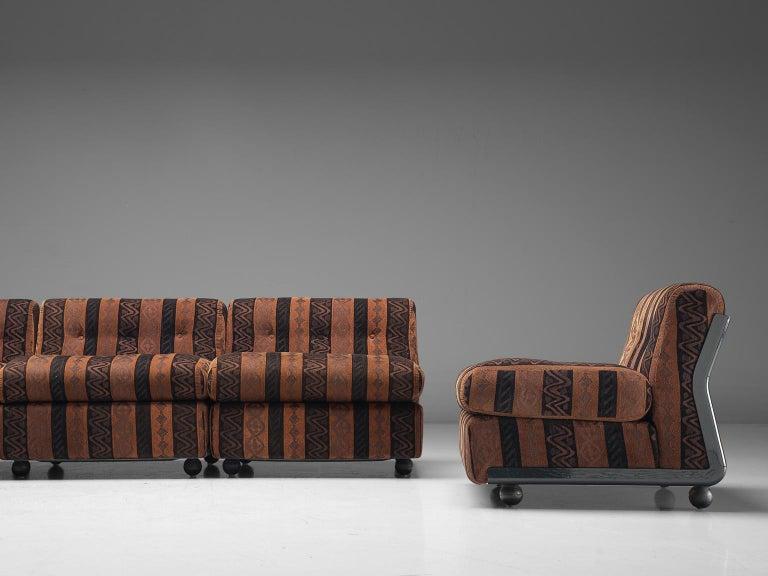 Mid-20th Century Mario Bellini 'Amanta' Modular Sofa in Original Fabric, 1966 For Sale
