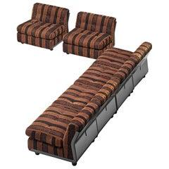 Mario Bellini 'Amanta' Modular Sofa in Original Striped Fabric