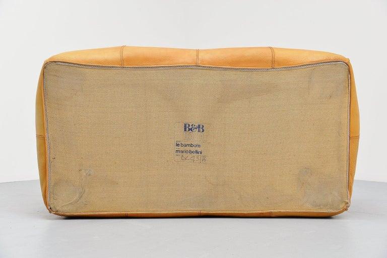 Leather Mario Bellini Bambole Sofa B&B, Italia, 1972 For Sale