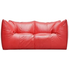 Mario Bellini Bambole Sofa Red B&B Italia 1974