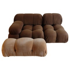 Mario Bellini B&B Italia, Camaleonda Sofa Set in Original Brown Upholstery, 1970