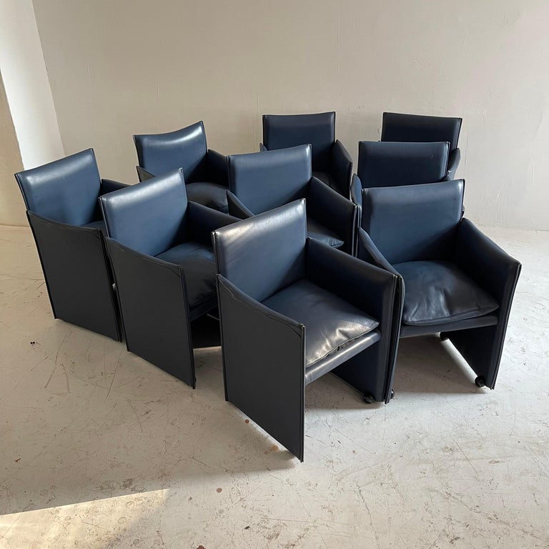 Late 20th Century Mario Bellini Breaker Armchair by Cassina 1970s, Set of 9 For Sale