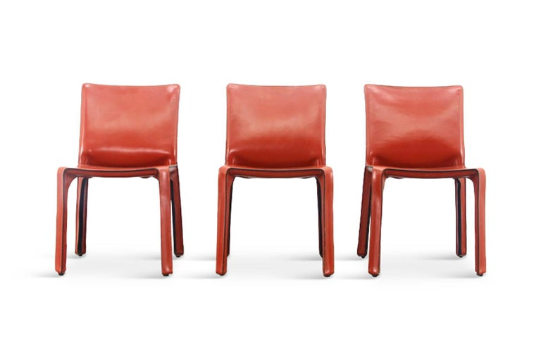 Mario Bellini Cab Chairs in Oxblood Red Leather for Cassina, 1977 In Good Condition For Sale In Antwerp, BE