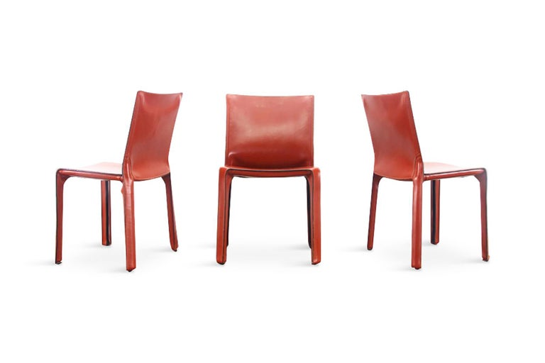 Mario Bellini Cab Chairs in Oxblood Red Leather for Cassina, 1977 For Sale 1
