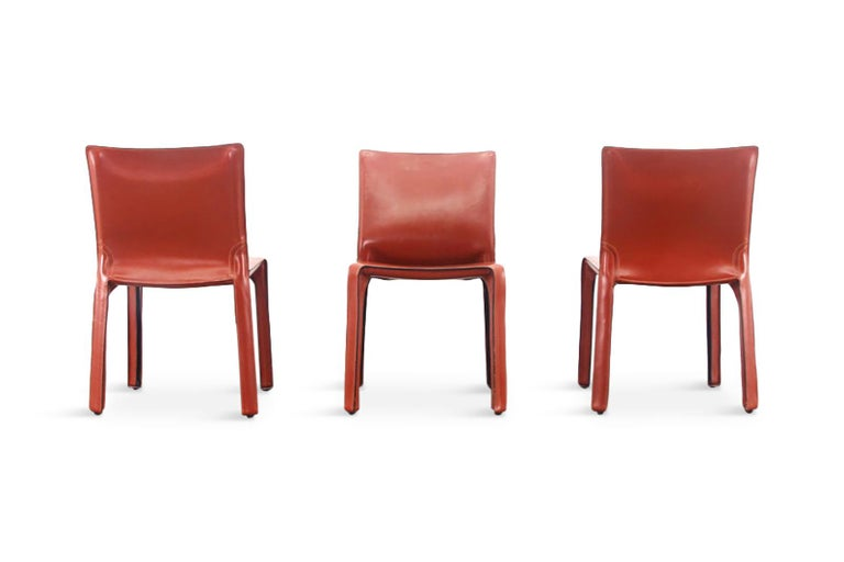 Mario Bellini Cab Chairs in Oxblood Red Leather for Cassina, 1977 For Sale 2