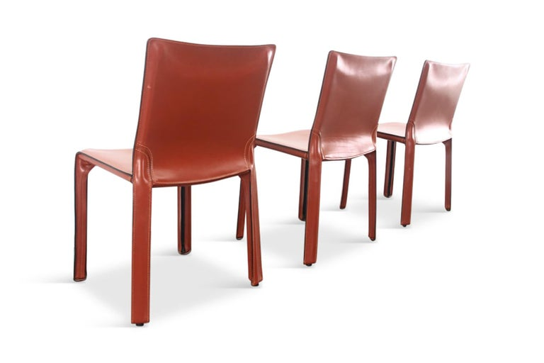 Mario Bellini Cab Chairs in Oxblood Red Leather for Cassina, 1977 For Sale 3