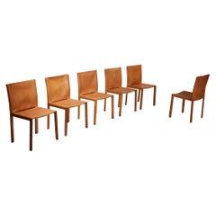 "Grassi & Bianchi pasqualina  ""CAB"" Leather Chairs for Enrico Pellizoni, Italy"