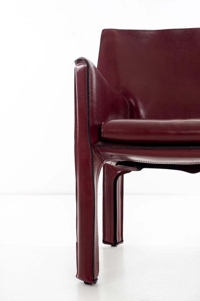 Mario Bellini Cab Lounge Chairs For Sale 3