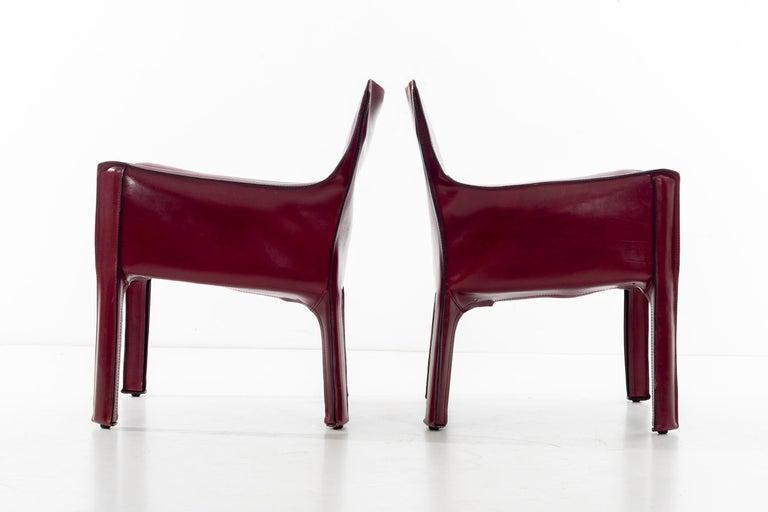 Italian Mario Bellini Cab Lounge Chairs For Sale