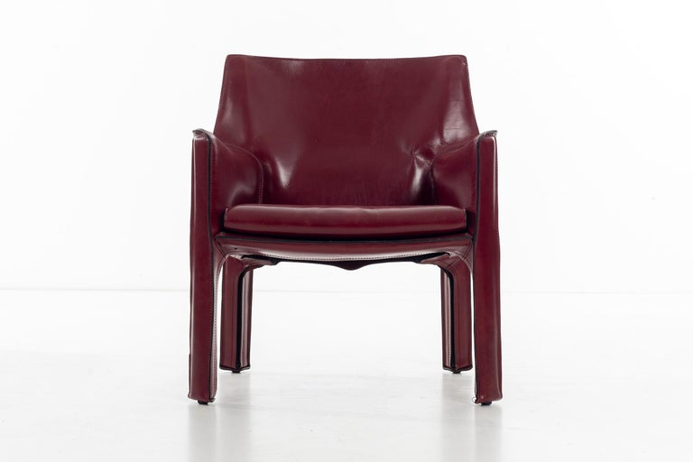 Mario Bellini Cab Lounge Chairs In Good Condition For Sale In Chicago, IL