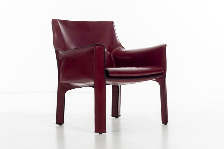 Late 20th Century Mario Bellini Cab Lounge Chairs For Sale